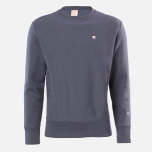 Champion Men's Logo Crew Neck Sweatshirt - Grey