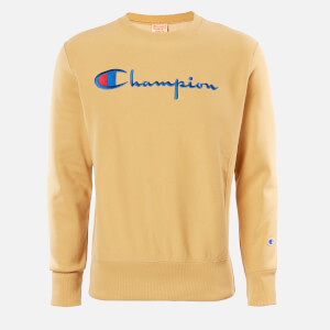Champion Men's Big Script Crew Neck Sweatshirt - Stone