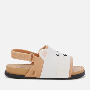 Mini Melissa Toddlers' Beach Slide Bear Sandals - Tan Contrast