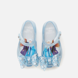 Mini Melissa Toddlers' Disney Frozen Ultragirl Flats - Sky Glitter Frost Bow