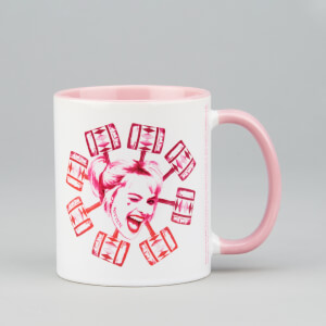 Birds Of Prey Harley Mug - White/Pink