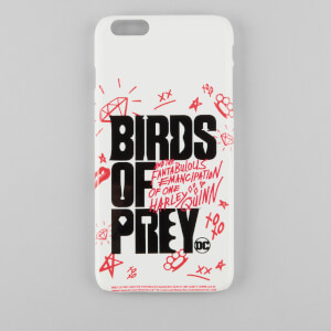 Funda móvil Birds of Prey Logo para iPhone y Android - Blanco/Negro