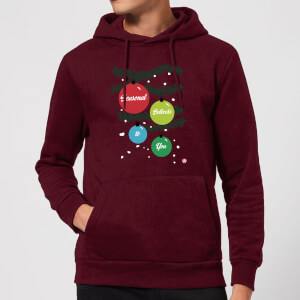Modern Toss Season Bollocks To You Hoodie - Burgundy