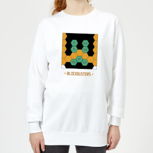 Blockbusters Stuck In The 80's Women's Sweatshirt - White