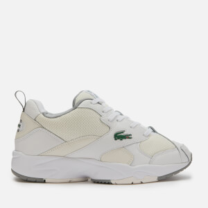 Lacoste Men's Storm 96 120 Chunky Running Style Trainers - White/Off White