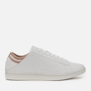 Lacoste Women's Carnaby Evo Duo 120 Leather Cupsole Trainers - White/Natural