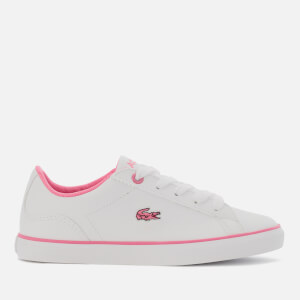 Lacoste Kids' Lerond Bl 2 Low Top Trainers - White/Pink