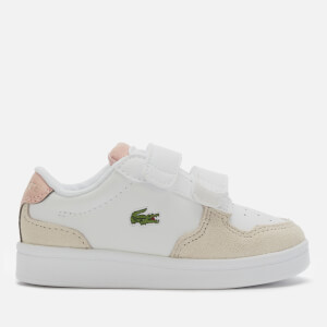 Lacoste Toddler's Masters Cup 120 Velcro Trainers - White/Natural