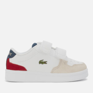 Lacoste Toddler's Masters Cup 120 Velcro Trainers - White/Navy/Red