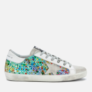 Golden Goose Deluxe Brand Women's Superstar Trainers - Rainbow Fabric/Multicolour Stone/Ice Star