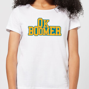 Ok Boomer College Women's T-Shirt - White