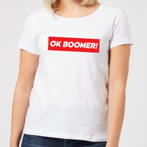 Ok Boomer! Block Women's T-Shirt - White