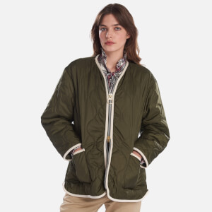 Barbour X Alexa Chung Women's Darcy Quilt Jacket - Olive
