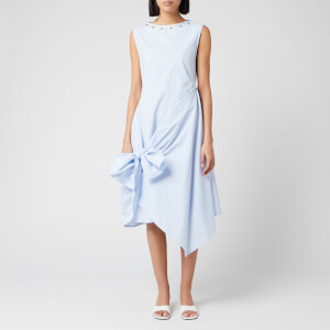 JW Anderson Women's Stud Neck Knot Dress - Light Blue