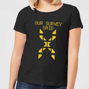 Family Fortunes Our Survey Said Women's T-Shirt - Black