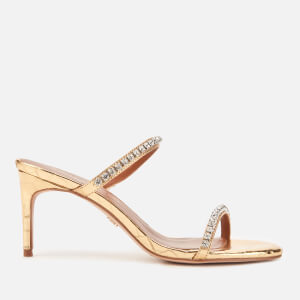 Kurt Geiger London Women's Priya Double Strap Heeled Sandals - Gold