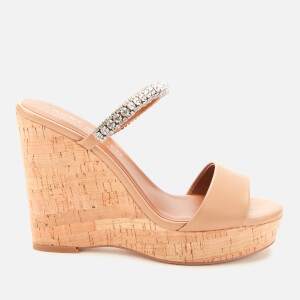 Kurt Geiger London Women's Alexia Leather Wedged Sandals - Camel