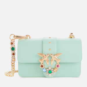 Pinko Women's Mini Love Jewels Shoulder Bag - Blue