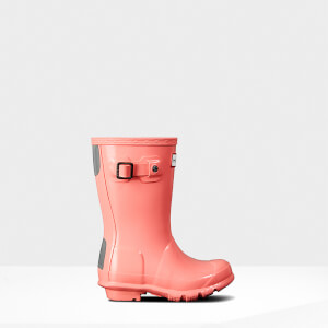 Hunter Kids' Original Gloss Wellies - California Sea Shelly