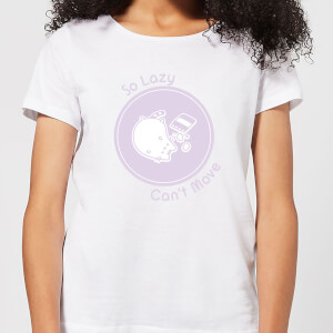 Pusheen So Lazy Can't Move Women's T-Shirt - White