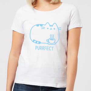 Pusheen Purrfect Cuppa Women's T-Shirt - White