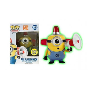 Figura Funko Pop! Exclusivo - Minion Alarma De Incendios (Glow In The Dark) - Gru: Mi Villano Favorito