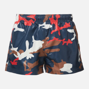 BOSS Hugo Boss Men's Barreleye Swim Shorts - Blue/Multi