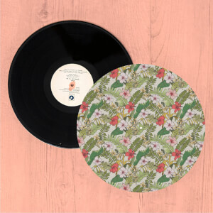 Tropical Leaves Turntable Slip Mat