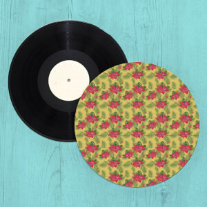 Hawaiian Tropical Flowers Pattern Turntable Slip Mat