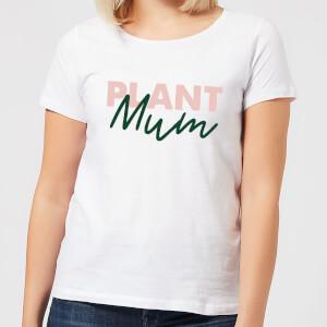 Plant Mum Script Women's T-Shirt - White