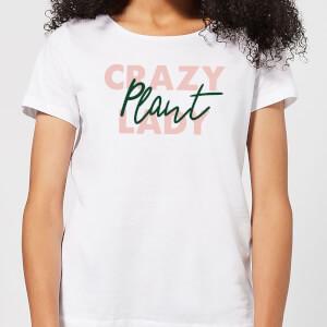 Crazy Plant Lady Script Women's T-Shirt - White