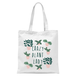 Crazy Plant Lady Tote Bag - White