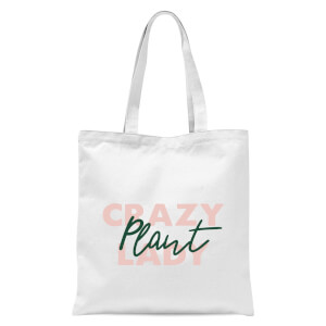 Crazy Plant Lady Script Tote Bag - White
