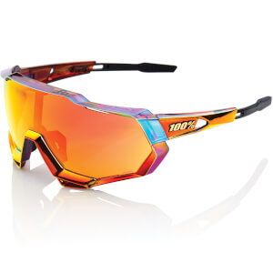 100% Speedtrap Sunglasses with HiPER Red Multiplayer Mirror Lens