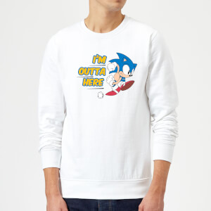I'm Outta Here Sweatshirt - White