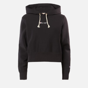 Champion Women's Central Script Hooded Sweatshirt - Black