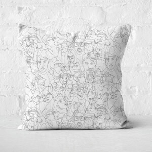 Faces Square Cushion