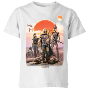 Camiseta The Mandalorian Warriors - Niño - Blanco