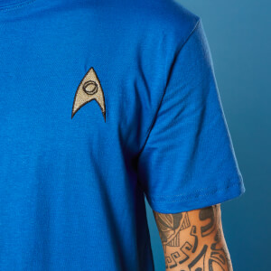 Camiseta Star Trek Bordado Science Badge - Unisex - Azul