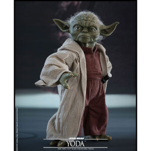 Hot Toys Star Wars Episode II Movie Masterpiece Action Figure 1/6 Yoda 14 cm