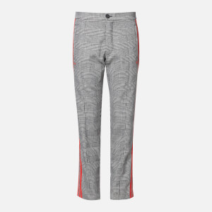 adidas X 424 Men's Wool Checked Trousers - Black/White/Red