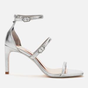 Ted Baker Women's Triam Metallic Triple Strap Sandals - Silver