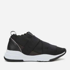 Ted Baker Women's Adriha Branded Elastic Runner Trainers - Black