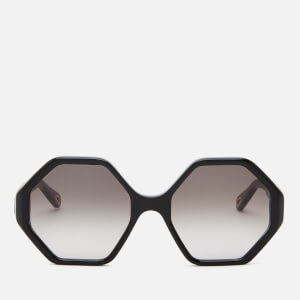 Chloé Women's Octagon Frame Acetate Sunglasses - Black