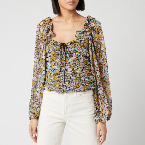 Free People Women's Mabel Printed Blouse - Black