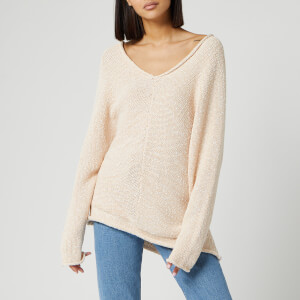 Free People Women's Bright Lights V Neck Jumper - Ivory