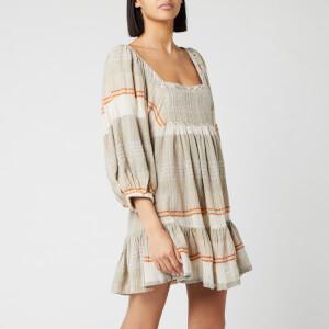 Free People Women's Cozy Striped Mini Dress - Ivory Combo