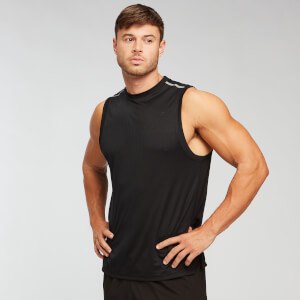 Training Grid Tank Top - Musta