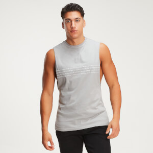 MP Men's Rest Day Slogan Drop Armhole Tank - Storm
