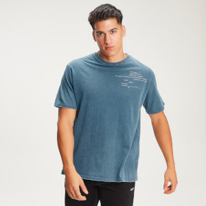 Rest Day Staggered Slogan T-Shirt - Bluejay